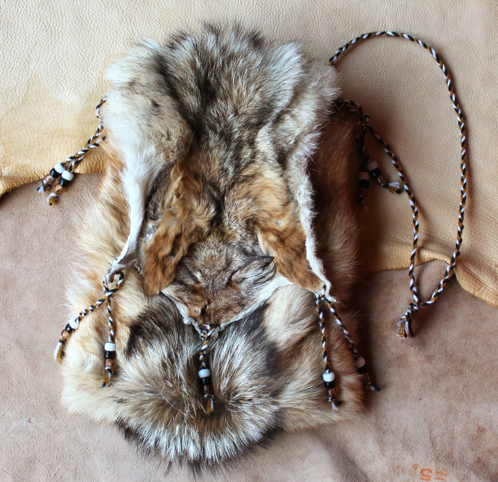 Vintage Black Backed Jackal Pouch The Green Wolf