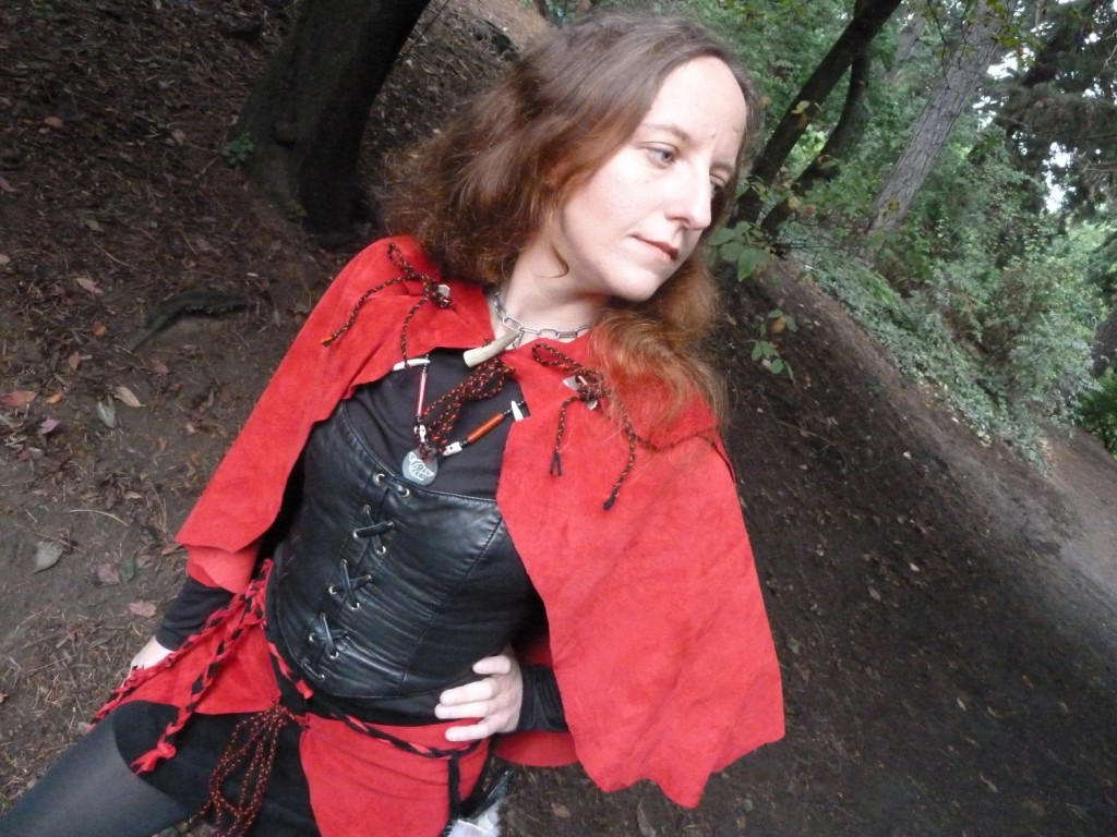 """Lady Red Riding Hood"", self-portrait, 2011."