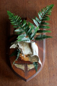 "One of my newest pieces, ""Deer Fern""."
