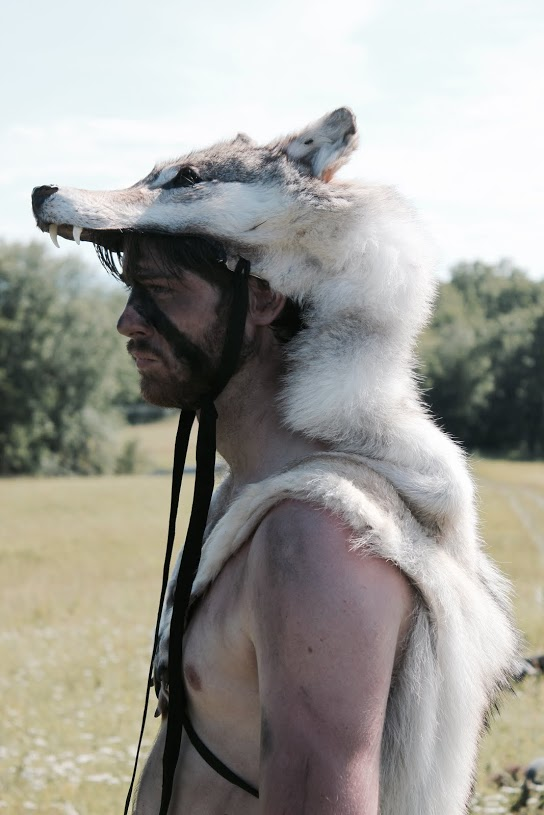 "Still from Trifilm Pictures' ""Einar"" (2015), featuring one of my wolf headdresses"